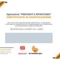 certificato_la_lucente_saicaf